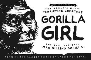 Gorilla Girl - Hand Drawn Font
