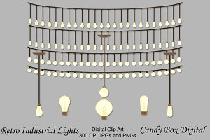 Retro Industrial Light Clip Art