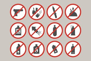 Prohibited luggage items.