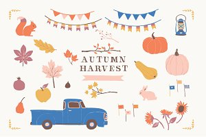 Autumn Harvest Clip Art Set