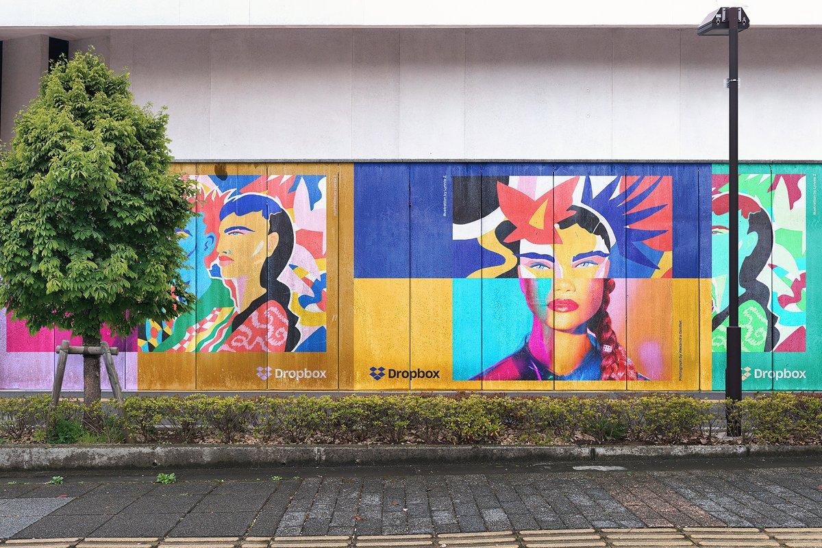 Mural Street Mockup Branding Mockups Creative Market