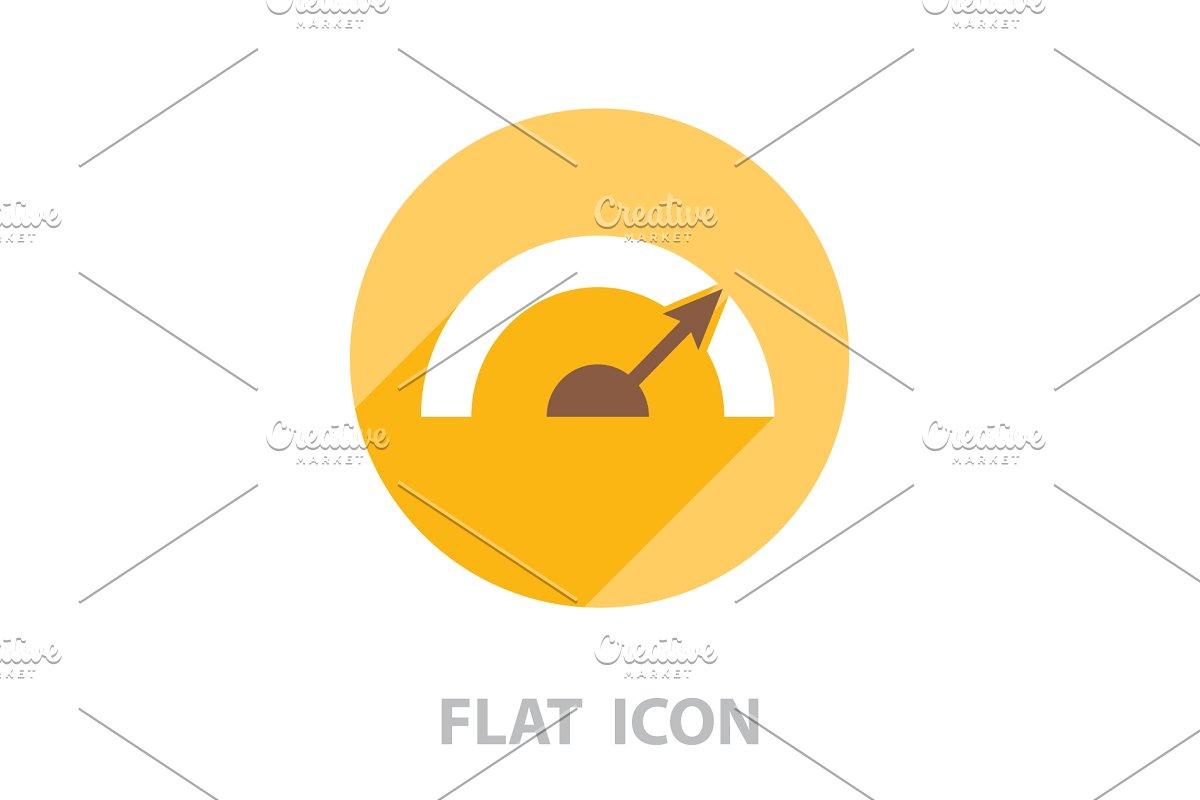 Pictograph of speedometer  vector