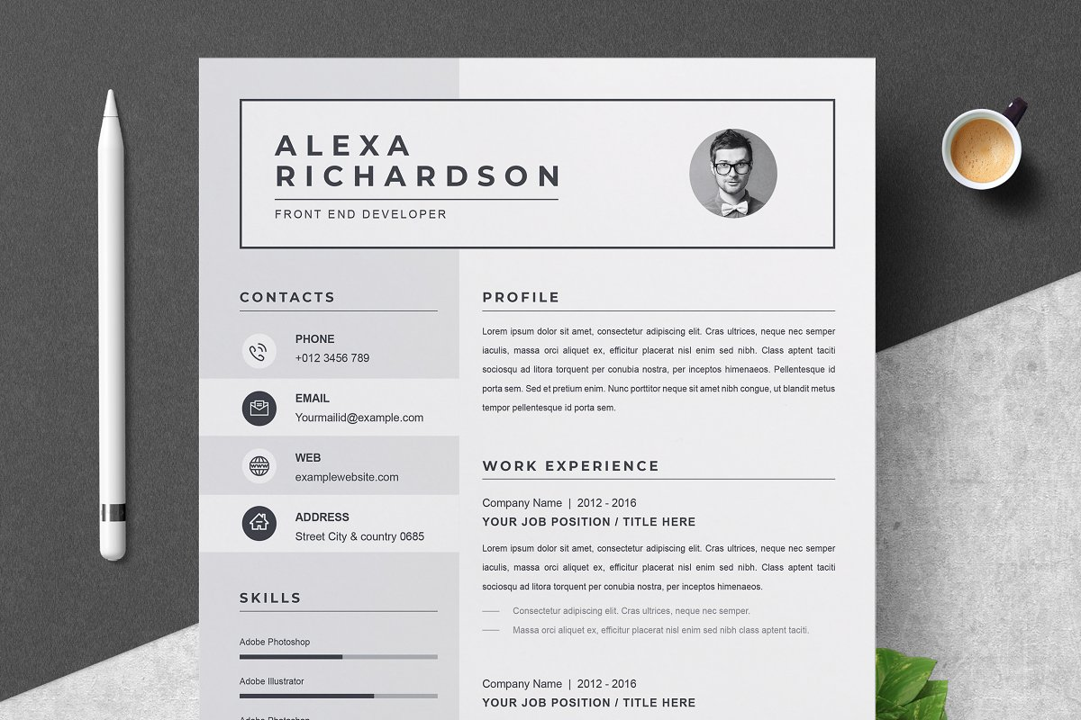 Cv Design In Ms Word Free Download