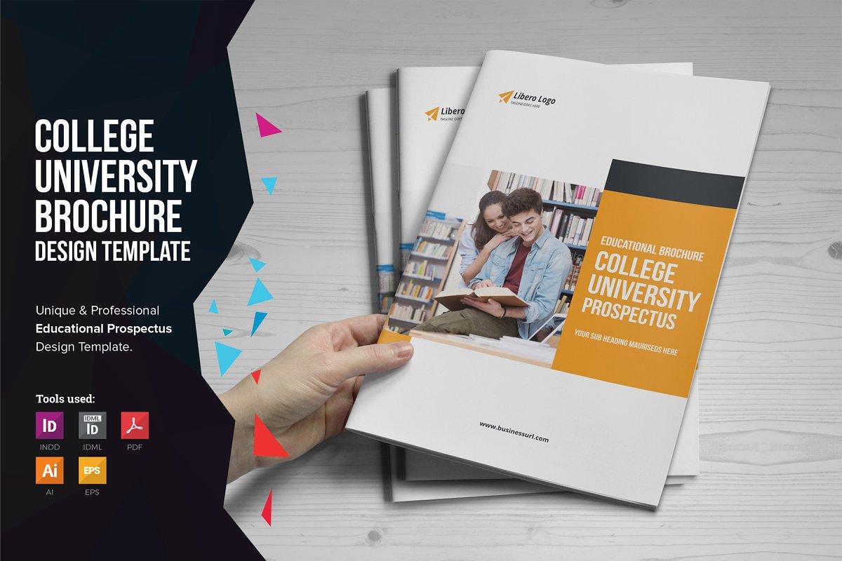 Education Prospectus Brochure V1 Brochure Templates Creative Market