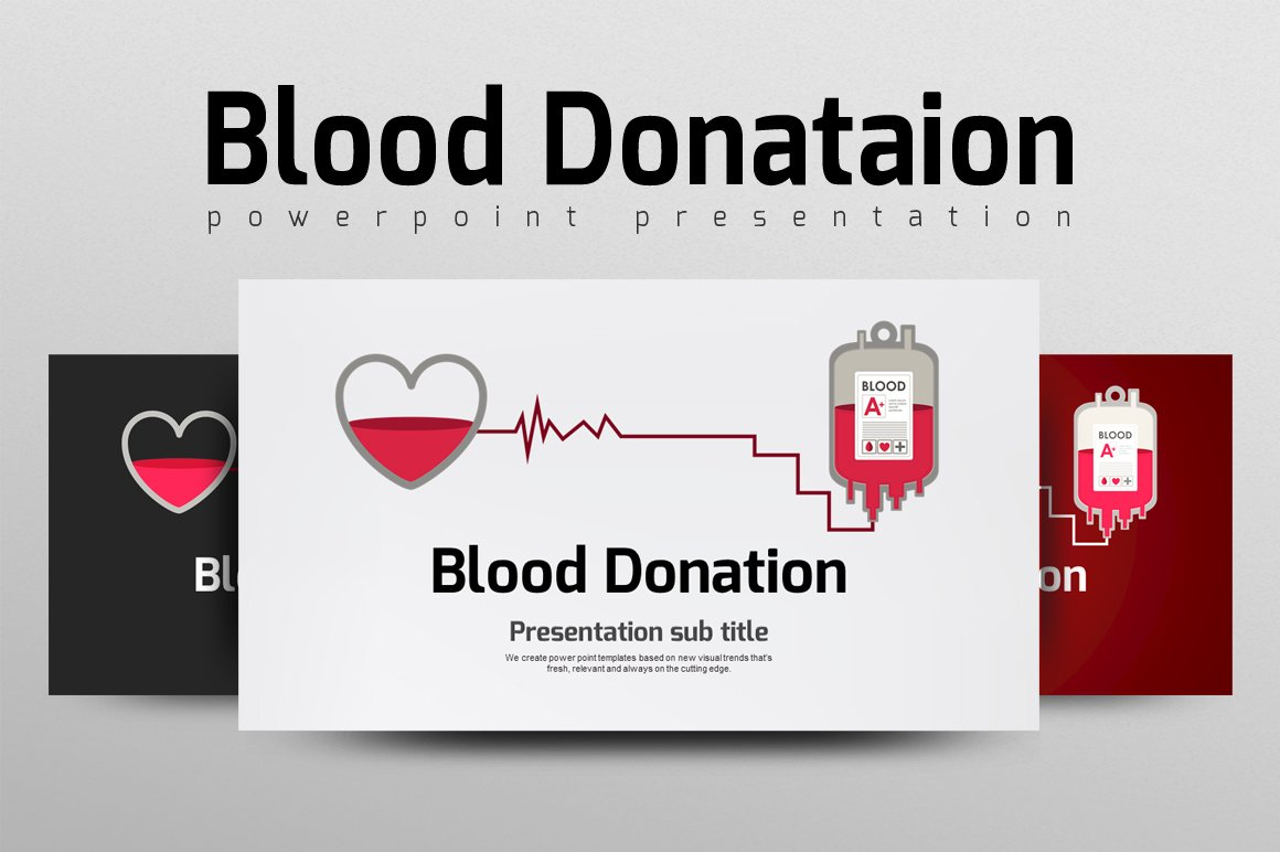Blood donation presentation templates creative market pronofoot35fo Choice Image