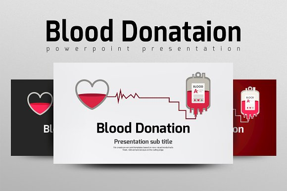 blood donation presentation templates creative market