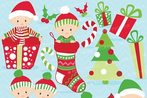 Christmas baby boy clipart