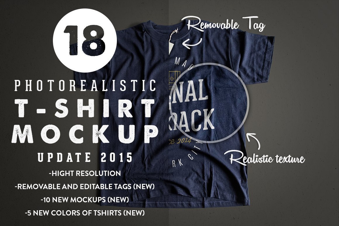 32adcd584 Photorealistic T-Shirt Mockup 2 ~ Product Mockups ~ Creative Market