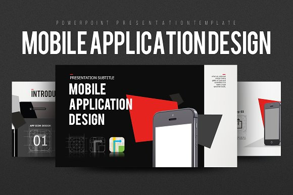Mobile Application Design ~ Presentation Templates ~ Creative Market