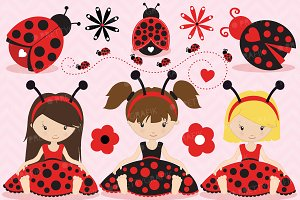 Ladybug clipart commercial use
