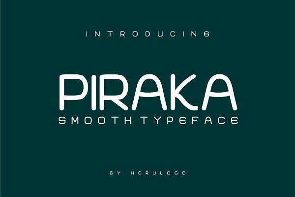 Best PIRAKA SMOOTH TYPEFACE Vector