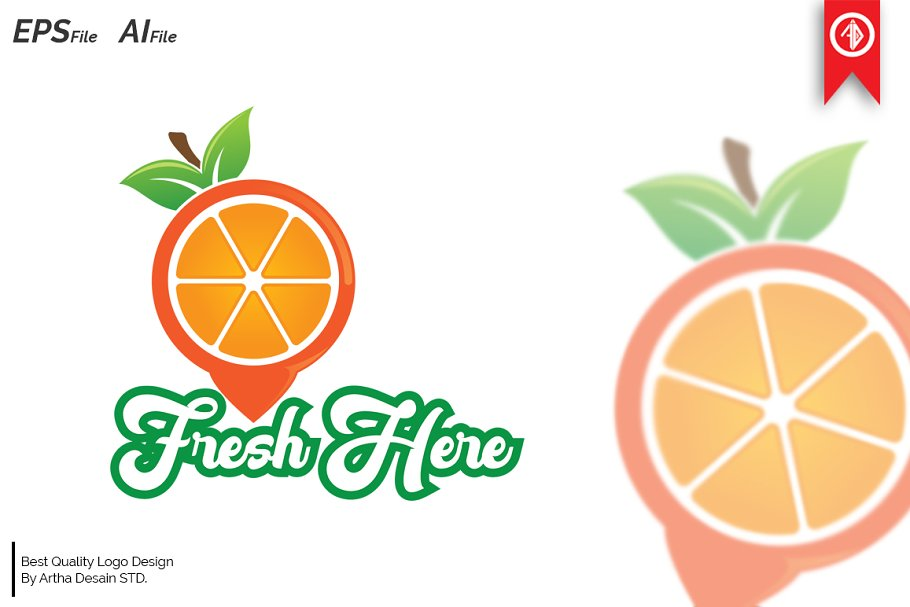 Fresh Fruit Tag Logo Templates
