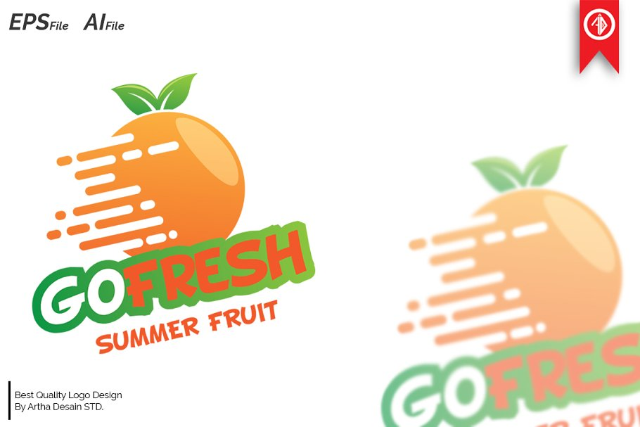Fresh Fruit Logo Templates