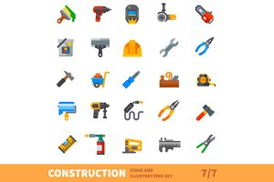 Construction set. Big bulding icon v