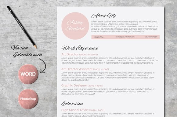 beautiful resume design resume templates on creative market - Beautiful Resumes