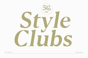 Style Clubs Serif - 50% OFF