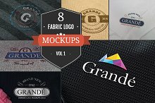 8 Awesome Fabric Logo Mockups Vol.1