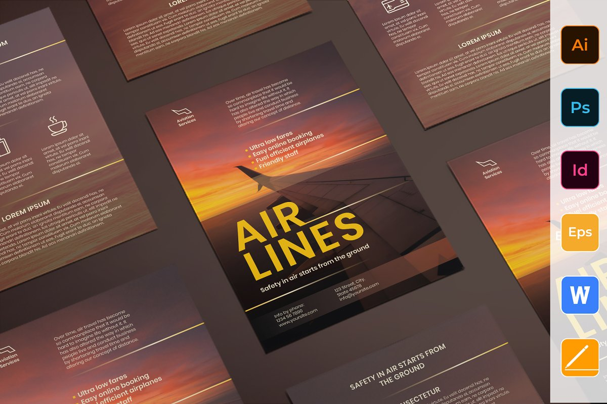 Airlines Aviation Flyer