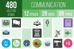 480 Communication Icons