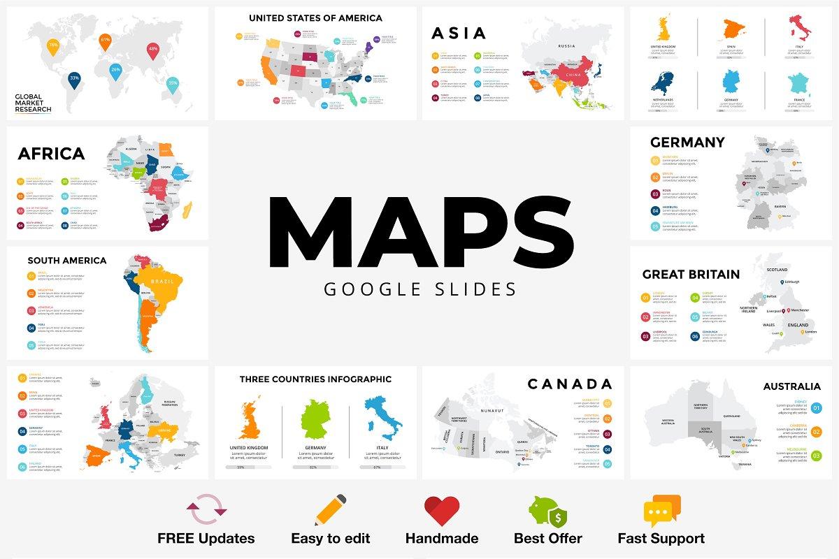 MAPS Infographics  Google Slides  ~ Google Slides Templates