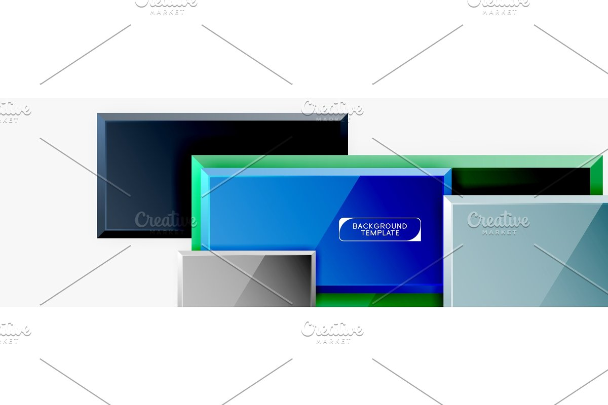 Abstract square composition for