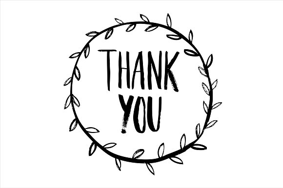 Thank you calligraphy vector illustrations creative market