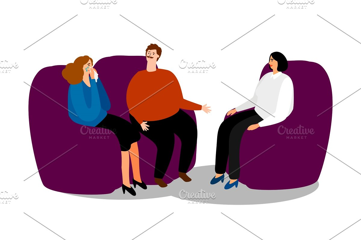 Family psychologist and couple