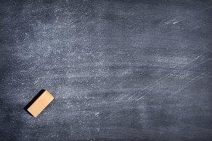 Dirty blackboard.