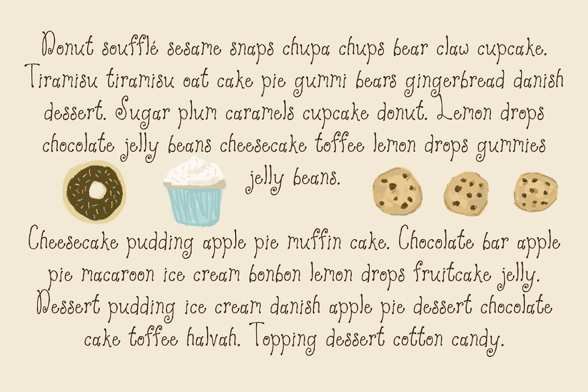 Strawberry Cake Whimsical Font