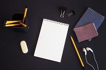 Mockup. Notebook drawing, pencil.