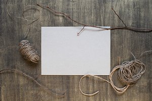 Blank sheet of paper and decoration