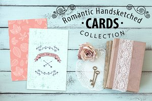 24 Romantic Hand Drawn Cards