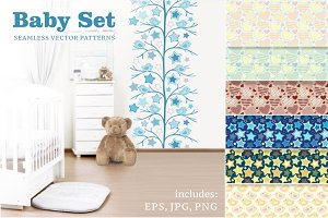 BABY SET. Colorful Seamless Patterns