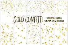 Gold Confetti digital paper