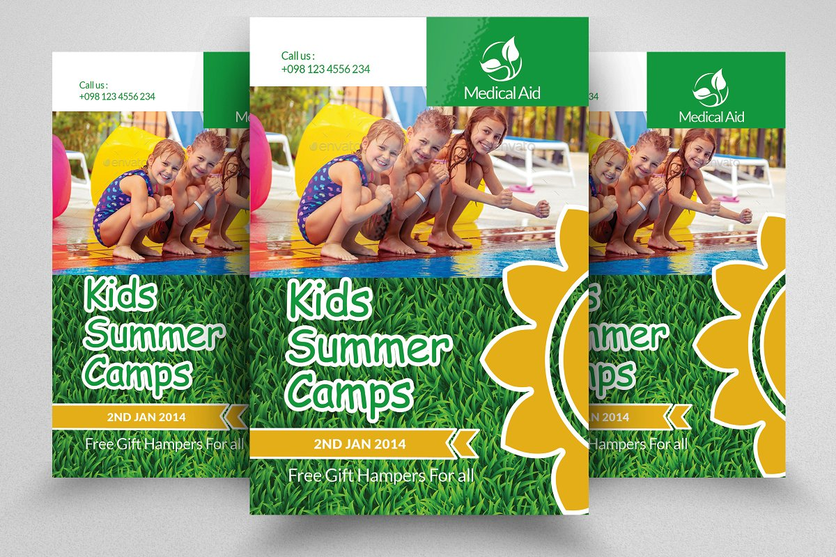 Kids Summer Camp Flyer Template Flyer Templates Creative