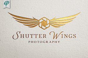 Shutter Wings - Photography Logo