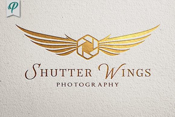 Shutter Wings - Photography Logo
