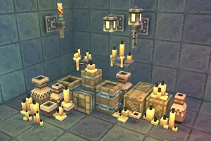 Low Poly 3D Pixel Dungeon Deco Set