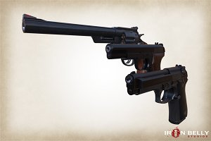 AAA Quality Pistol Asset 3-Pack