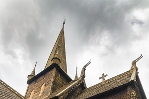 Old wooden stave church