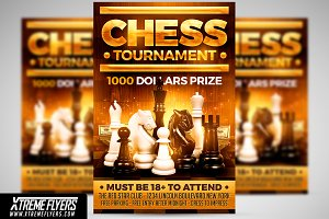 Chess Club Flyer Template from images.creativemarket.com