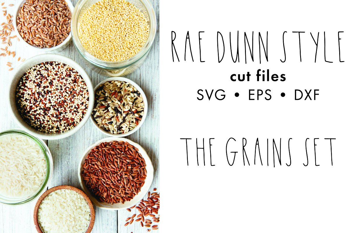 Rae Dunn Style Cut Files Grains