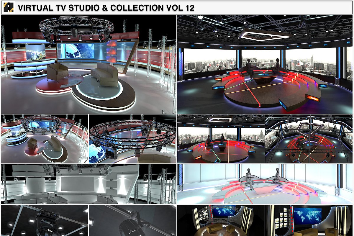 TV Studio Chat Sets Collection 12