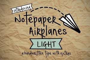 Notepaper Airplanes Light