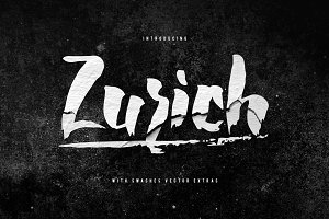 Zurich Brush Font + Swashes