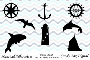 Nautical Silhouette Clip Art