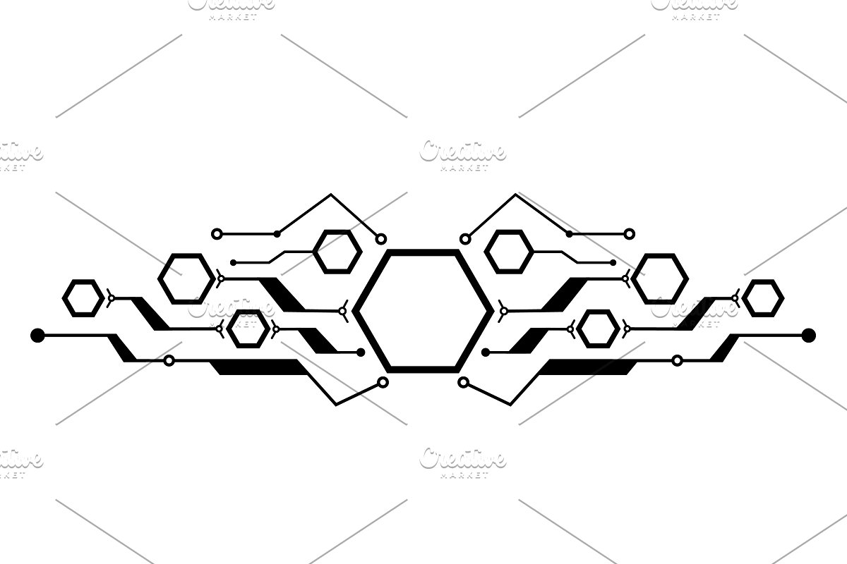 Several hexagons connected