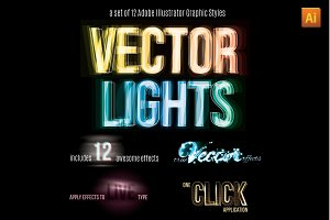 Vector Light Effect Graphic Styles