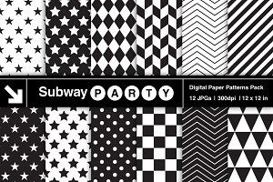Black & White Geometric Papers