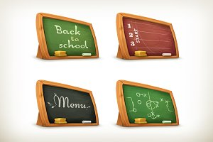 Chalkboards vector icons